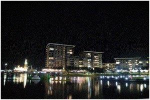 Figure2. First night view at Darwin Port Terminal (photo credit by Santi)