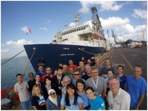 Figure3. Science party IODP Exp. 359 (photo credit by scientist)